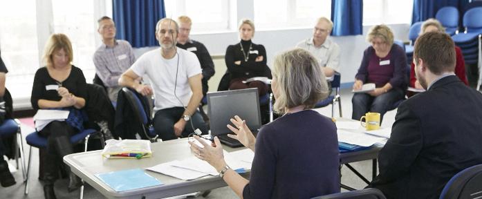 fiona martin leading training at brighton community works