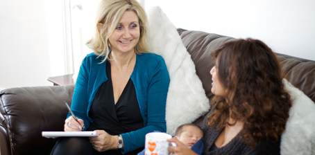 Fiona Martin meets with a client