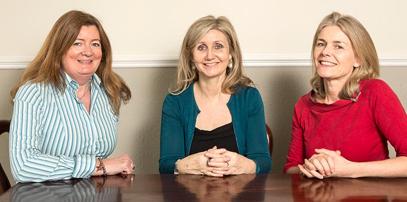 Susan Dennehy, Fiona Martin and Elaine Abbs